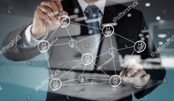 stock-photo-double-exposure-of-businessman-working-with-new-modern-computer-show-social-network-structure-302314073
