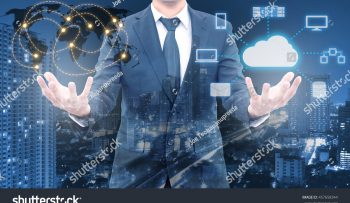 stock-photo-double-exposure-of-professional-businessman-holding-wolrd-network-connection-and-cloud-technology-457658344