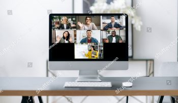 stock-photo-online-lesson-distance-learning-on-the-computer-screen-is-many-different-multiracial-people-and-a-1918848638